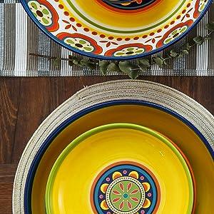 Bico Tunisian Dinner Plates Set