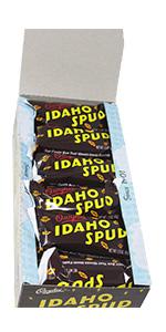 idaho candy company idaho spud 18 ct box dark chocolate coconut marshmallow creme center gift