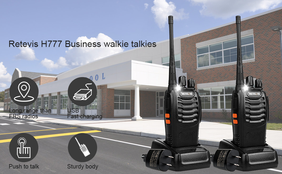 two way radios long range rechaegeable