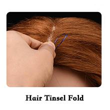 hair tinsel fold