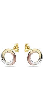 Gold Love Knot Stud Earrings