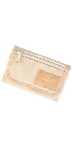 Rough Enough Off White Kids Wallet for Boys Girls Teen Men Women Front Pocket Coin Purse