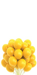 yellow balloons solid color themed party balloons
