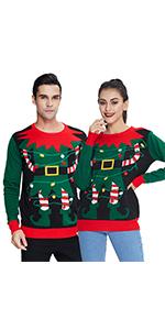 LED Light Up Ugly Christmas Sweater