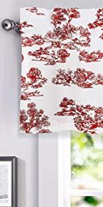 lola vintage window valance 52 18 red