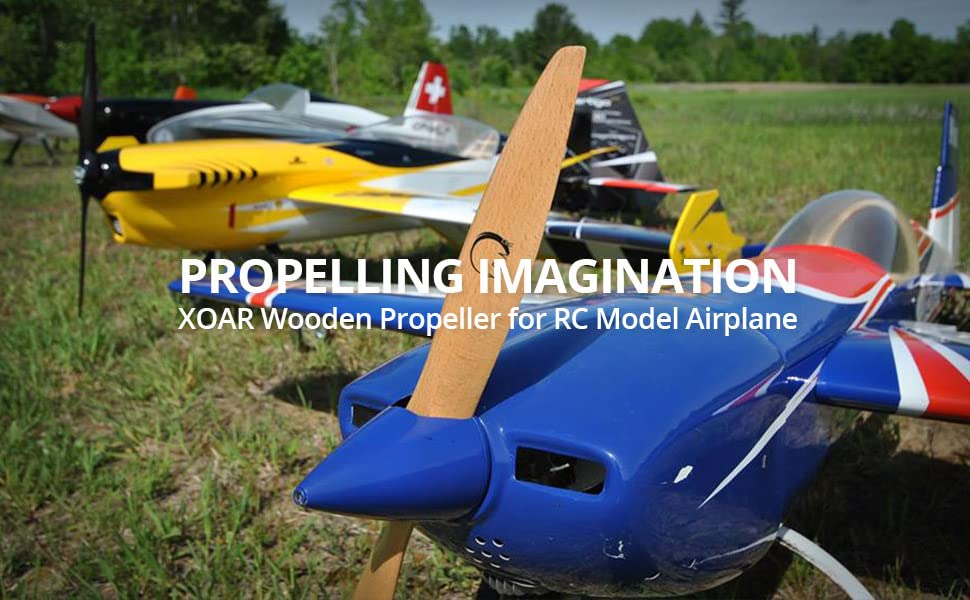 XOAR Wooden Propeller for RC Model Airplanes