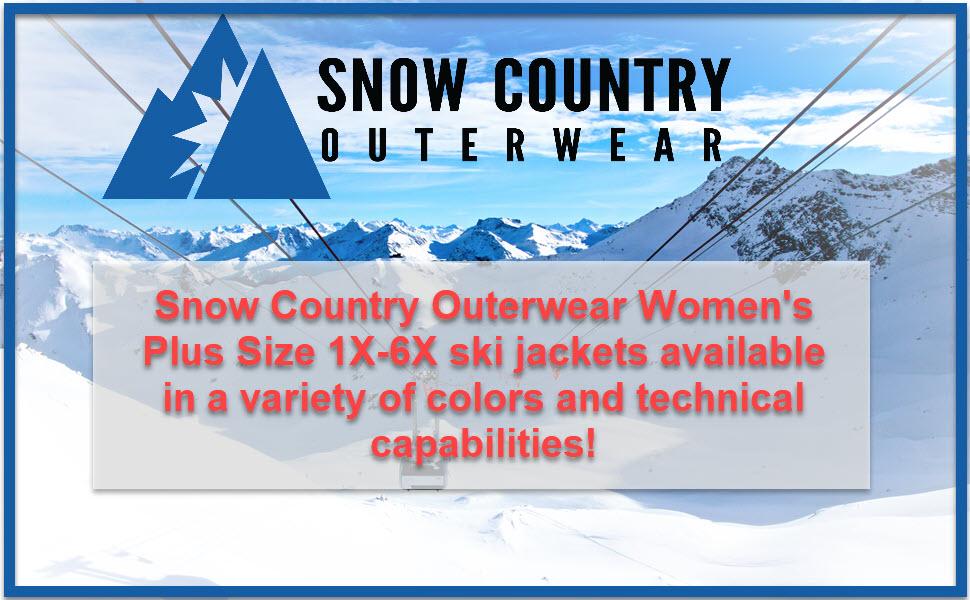 snow country outerwear womens ladies 1x 2x 3x 4x 5x 6x ski jackets coats curvy plus size