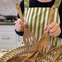 slotted spatula and salad fork