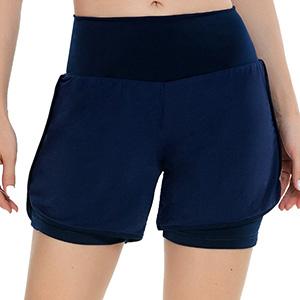 high waist fitness shorts