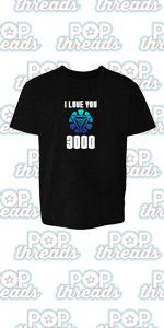 Superhero Movie Comic Book Costume I Love You 3000 Toddler Kids Girl Boy T-Shirt