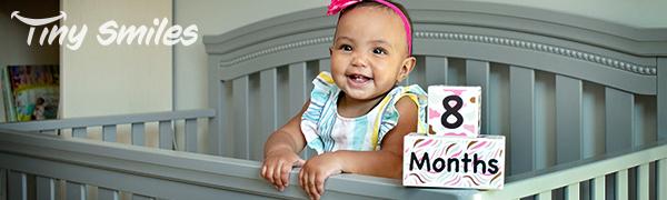 age milestone months blocks wooden stickers blanket monthly photo sharing girl best