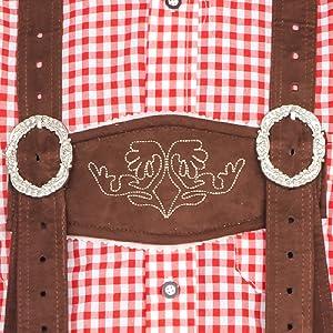 Oktoberfest German Bavarian Lederhosen Costume Details