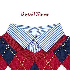 boys sweater with Shirt Collar