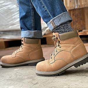 Premium leather/Goodyear welt construction