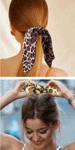 leopard scarf scrunchy