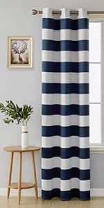 striped curtains navy and white curtains