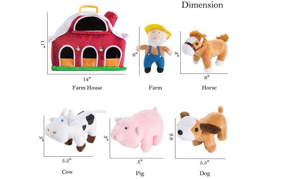 farm animal toys little people farm big red barn animal toys boys soft toy animals