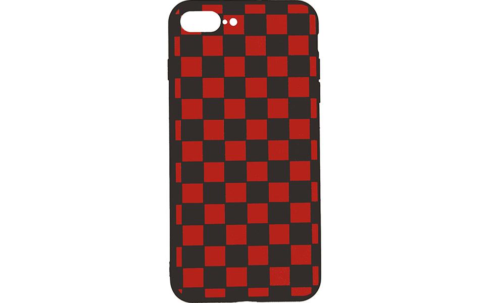 red black grid case