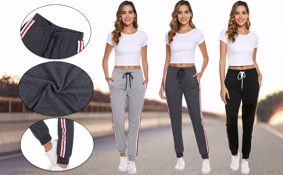 Active Yoga Sweatpants for women with pockets  Workout Joggers Pants for Lounge