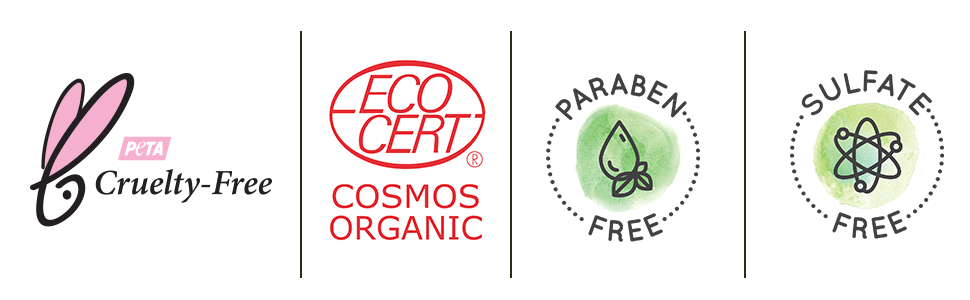 cruelty free, vegan, paraben free, sls free, organic
