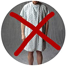 NO MORE UGLY HOSPITALGOWNS