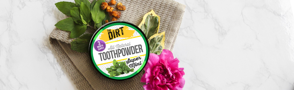 Super mint toothpowder natural toothpaste
