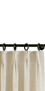 Unlined LIZ Pinch Pleat Curtain