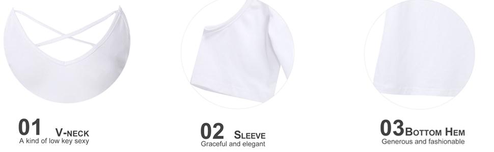 Cold Shoulder T Shirt Detail