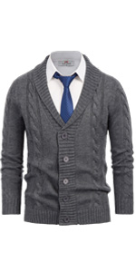 mens shawl collar button down sweater cardigan cable knitted long sleeve cardigan sweaters for men