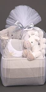 Pink Baby Gift Basket