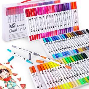 dual brush markers