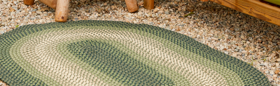 outdoor braided rug