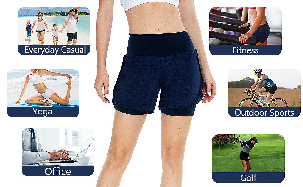 relaxed fit comfy casual shorts for women