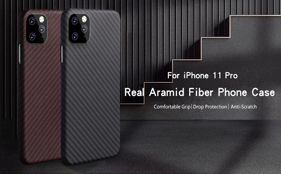 Aramid Fiber Matte  iPhone11 Pro