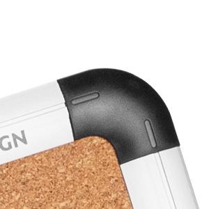 VUSIGN Combination Magnetic Whiteboard & Corkboard
