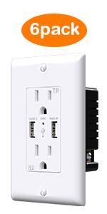 6pack usb outlet