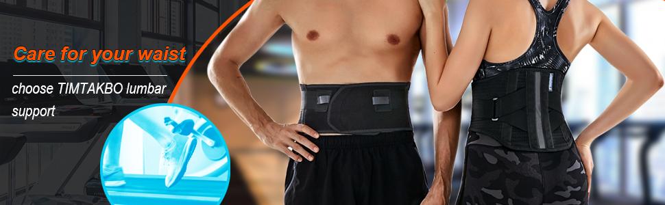 Black color of TIMTAKBO Back Brace(Lumbar support)