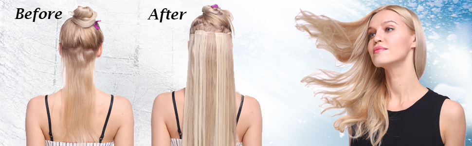 clip in real hair