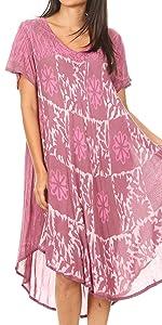 swing dress A-line sundress beach cover-up tank dress summer short sleeve casual midi short maxi