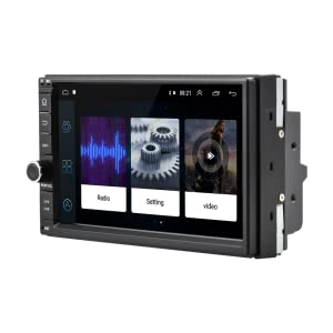 Camecho 7 inch Double Din Car Stereo with Bluetooth Touchscreen Support iOS//Android Phone Mirror Link Built in FM AUX USB SD+Backup Camera Input/& Steering Wheel Control