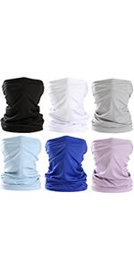 6Pcs Breathable Cooling Bandanas