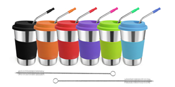 Kids Cup with Straw and Lids