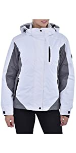Swiss Alps Womens Insulated Waterproof Performance Winter Ski Jacket Coat