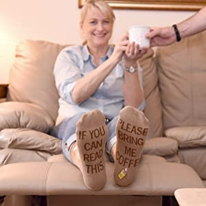 bring get me coffee socks if you can read this coffee men women gift