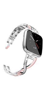 TOYOUTHS Fitbit Versa 2 Bands Women Strap Lite Special Edition Replacement Bracelet Wristbands