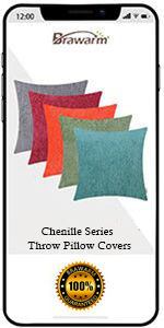 Chenille Throw Pillow Covers