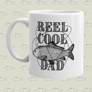 reel cool dad fishing mug