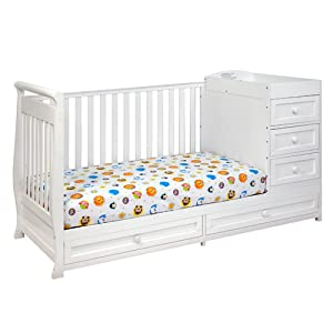 PEMBERLY ROW 2-in-1 Convertible Crib and Changing Table in White