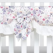 buttery floral crib rail cover