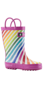 girls rain boots, girls loop handle rain boots
